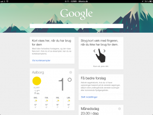Google Now på iPad