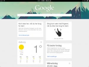 Google Now på iPad